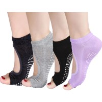 Wholesale-Non-Slip-Skid-Yoga-Socks-Toeless
